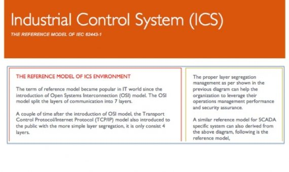 Industrial Control System Reference Model