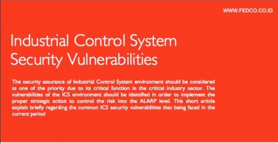 Industrial Control System Security Vulnerabilities